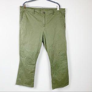 Gap crop kick temporal olive womens pants size 18R